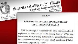 Dokument som handlar om att skaffa ett maltesiskt pass.