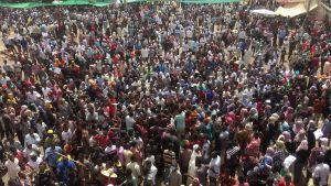 Demonstration i Khartoum den 10 april 2019