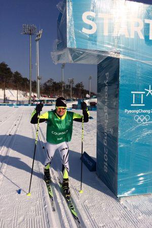 Yle Sportens expertkommentator Glenn Lindholm vid OS 2018.