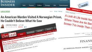 Webbsidor som lyfter fram The Norden.