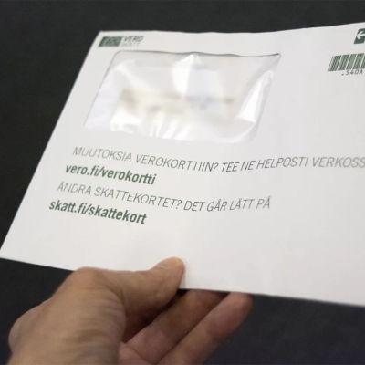 Ett kuvert från Skatteförvaltningen.
