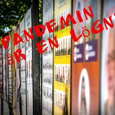 Kommunalvalskandidater ifrågasätter coronapandemin.