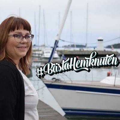 Ulla Väärä utomhus i Dalsbruk