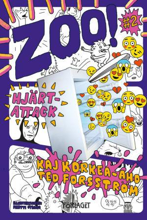 Omslaget till Ted Forsströms och Kaj Korkea-Ahos bok Zoo - Hjärtattack