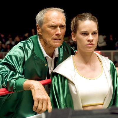 Clint Eastwood ja Hilary Swank elokuvassa Million Dollar Baby