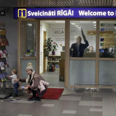 Flygplatsen i Riga oktober 2015.