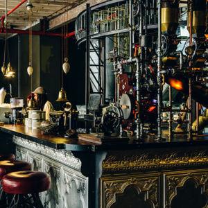 Bardisken i Truth Café i Kapstaden