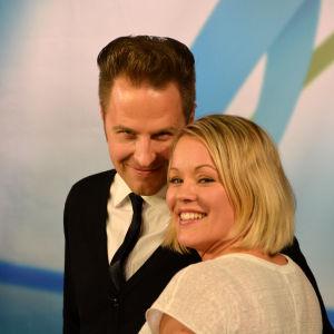Heidi Pakarinen ja Kyösti Mäkimattila - Tangokuninkaalliset vuosimallia 2013 - vierailivat Tangomarkkinoiden esikarsintakiertueella Turussa huhtikuussa 2014