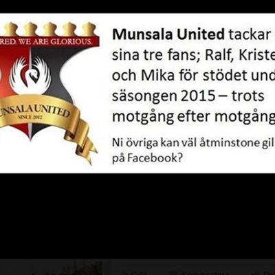 Munsala United, annons