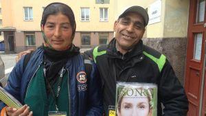 Ioana Silion från Rumänien och Momchil Tomov från Bulgarien säljer Iso Numero