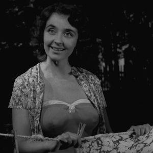 Mirja Karisto Yrjö Nortan elokuvassa Kolmas laukaus (1959).