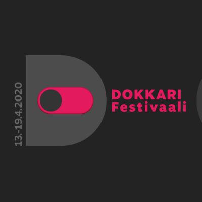 Dokkarifestivaalin logo. Päivämäärä 13-19.4.2020.