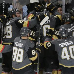 Vegas Golden Knights firar.