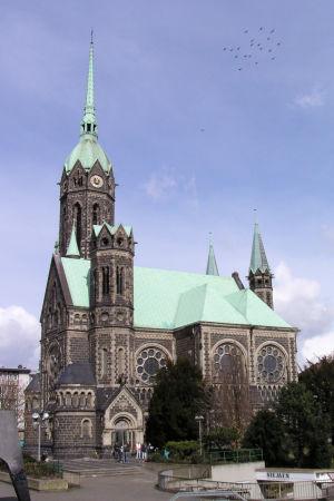 Den protestantiska huvudkyrkan i Mönchengladbach-Rheydt