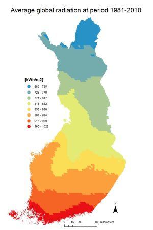 Aurinkoenergiakertymä Suomessa
