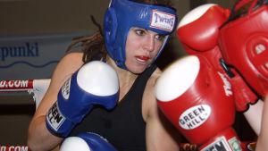 Eva Wahlström i FM i boxning i Lovisa 2006