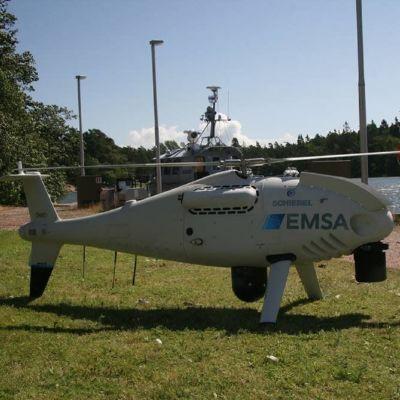 En obemannad luftfarkost som tas i bruk av Västra Finlands sjöbevakningssektion.