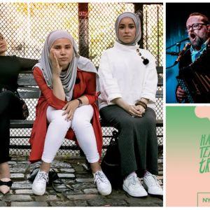 Collage med Iman Meskini, Antti Paalanen och Hangö teaterträff.