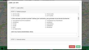 Skärmdump av enkäten som finns länkad på Byggnadskontorets webbplats.