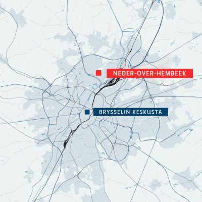 Brysselin rikos- ja oikeustieteellisen tutkimuslaitoksen laboratoriot sijaitsevat Neder-Over-Hembeekin kaupunginosassa.