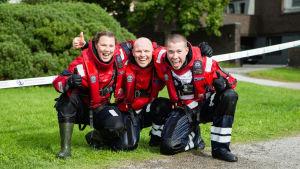 Tove Werner, Mikael Bäckman, Andreas Hindrén deltar i tävling för sjöräddare