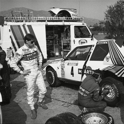 Henri Toivonen Korsika-rallissa 1986.