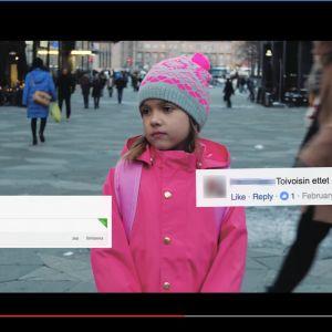 Skärmdump av en video från Polistube som handlar om hatpropaganda.