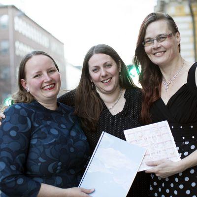 Sara Snickars, Anna Vikberg och Eivor Sundbäck.