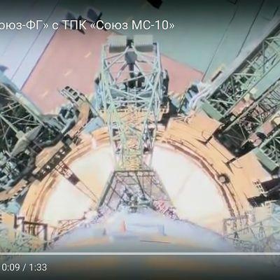 Roscosmosin videomateriaalia Sojuz-raketin laukaisusta.