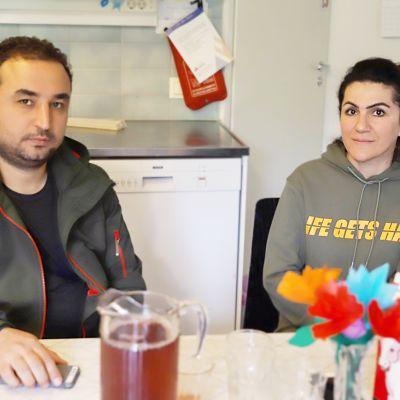 Irakilaiset Shereen Alwasiti ja Ali Alabbodi