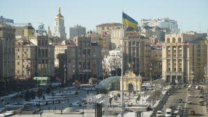 Torget Majdan i Kiev.
