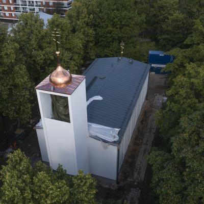 Hämeenlinnan ortodoksinen kirkko remontin loppuvaiheessa.
