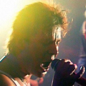 Popedan Pate Mustajärvi ja Jyrki Melartin lavalla (1986).