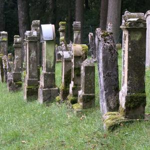 Gravstenar på den judiska begravningsplatsen i Ermreuth
