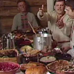 Ortodoksien ateriointia pääsiäispaaston aikana