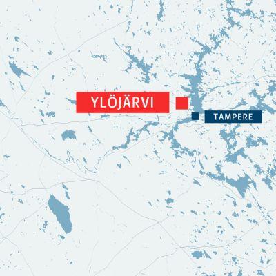Ylöjärvi kartalla.