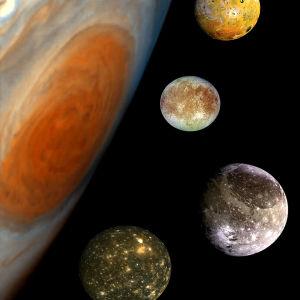 kuvassa jupiterin kuut