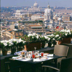 Roomalainen hotellinäkymä