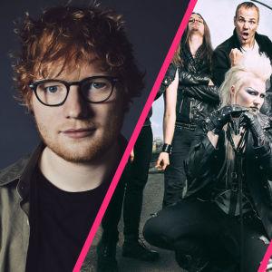 Ed Sheeran, Battle Beast, LCMDF kokoelmakuvassa.