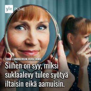 Tiina Lundbergin huoltamo -ohjelmasarjan promokuva.