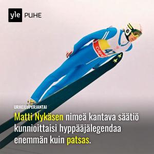Kuvassa Matti Nykänen.