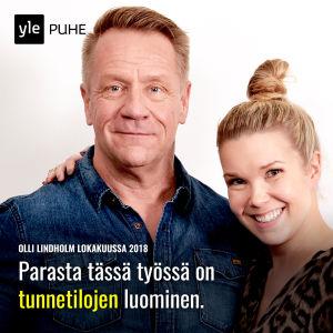 Kuvassa Olli Lindholm ja Tuija Pehkonen.