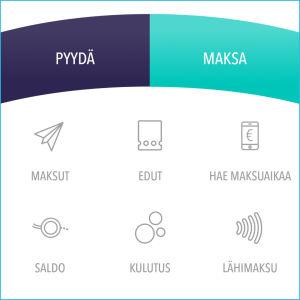 Kuvakaappaus Pivo-sovelluksesta: Maksamisen lisäksi voit pyytää rahaa.