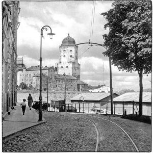 Viipurin linna 1920-1930-luvuilla.
