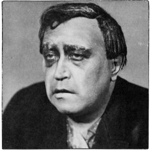 Eino Jurkka Viipurin Näyttämöllä Tolstoin näytelmässä Elävä ruumis 1920-luvulla.