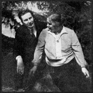 Toivo Saarenpää ja puolisonsa Mandi Saarenpään noin 1927.