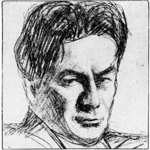 Piirros säveltäjä Toivo Saarenpäästä 1930.