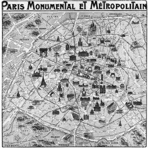 Pariisin kartta vuodelta 1932.