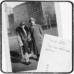 Greta ja Boris Sirpo New Yorkissa jouluna 1940.