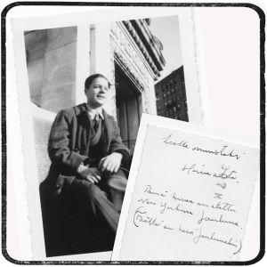 Heimo Haitto New Yorkissa jouluna 1940.
